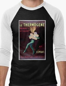 Leonetto Cappiello A fire eater kindling fire in his lungs with the remedy Ther Wellcome L0027813 Men's Baseball ¾ T-Shirt
