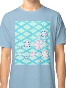 Baby Blue Garden Flowers Classic T-Shirt