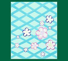 Baby Blue Garden Flowers Unisex T-Shirt