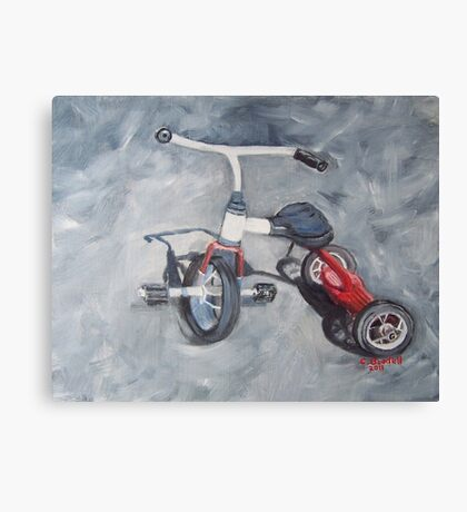 Original Oil Painting - First Wheels Canvas Print