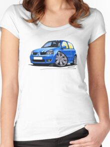 RenaultSport Clio 182 Blue Women's Fitted Scoop T-Shirt