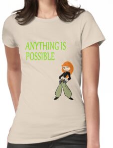 Anything Is Possible - Kim Possible (Designs4You) Womens Fitted T-Shirt