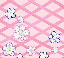 Baby Pink Garden Flowers by Irina Sztukowski