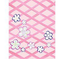 Baby Pink Garden Flowers Photographic Print