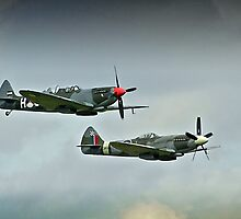 Spitfires Over Duxford by vivsworld