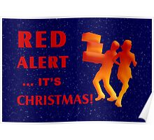 Red Alert It's Christmas Poster
