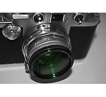 Dusty Green Lens Photographic Print