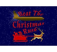 Beat The Christmas Rush Photographic Print