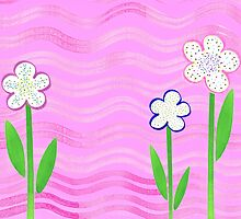 Freckled Flowers In The Garden by Irina Sztukowski