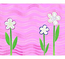 Freckled Flowers In The Garden Photographic Print