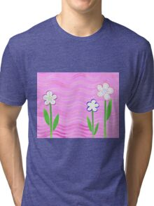 Freckled Flowers In The Garden Tri-blend T-Shirt