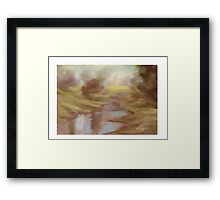 Trees by the Stream Framed Print