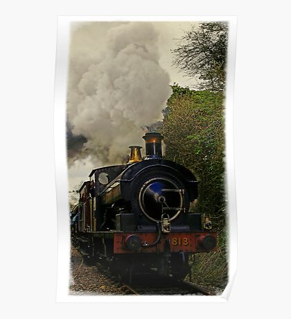 Steam train, East Somerset Railway, UK Poster