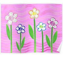 Freckled Floral Garden Poster