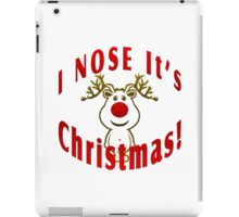 I Nose It's Christmas iPad Case/Skin