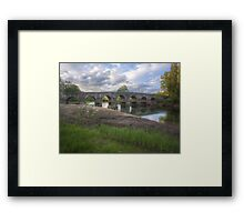 Old bridge on the river Dobra Framed Print