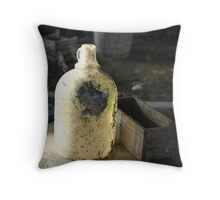 a old bottle Throw Pillow