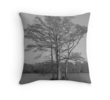 Cypress in Black and White Throw Pillow