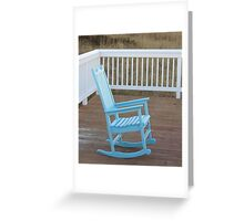 Lonely rocker Greeting Card