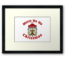 Merry Ho Ho Christmas Framed Print