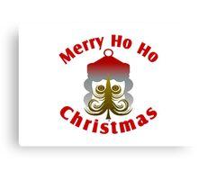 Merry Ho Ho Christmas Canvas Print