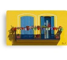 L'allegro balcone Canvas Print