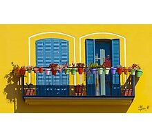 L'allegro balcone Photographic Print