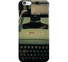 Shining Typewritter  iPhone Case/Skin