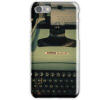 Shining Typewritter  iPhone Case/Skin