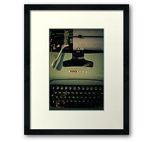 Shining Typewritter  Framed Print