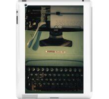 Shining Typewritter  iPad Case/Skin
