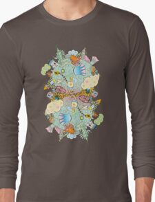 Puffer Puffing On A Water Pipe Long Sleeve T-Shirt
