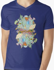 Puffer Puffing On A Water Pipe Mens V-Neck T-Shirt