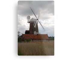 Windmill,  Norfolk  Metal Print
