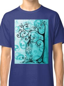 Whimsical Tree And Magical Bird Classic T-Shirt