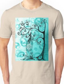 Whimsical Tree And Magical Bird Unisex T-Shirt