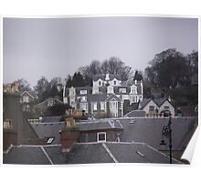 Rooftops near Broughty Ferry Poster