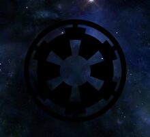 Galactic Empire Emblem w/ Galaxy Background  by Bluepotatogirl