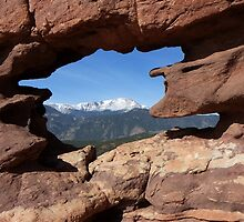 Pikes Peak thru Siamese Twins by Bernie Garland