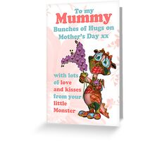 Mummy Mother's Day Card With Monster Greeting Card