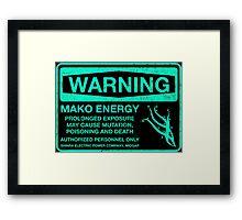 Warning: Mako Energy Framed Print