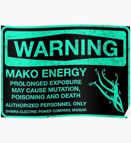Warning: Mako Energy Poster