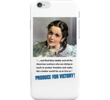 Produce For Victory! WW2  iPhone Case/Skin