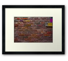 Writing on the Wall Framed Print