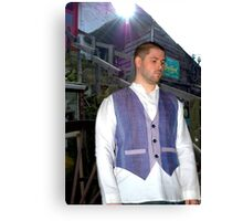 The Flax Mill...A Waistcoat and Shirt Canvas Print
