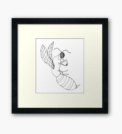 killer bee Framed Print