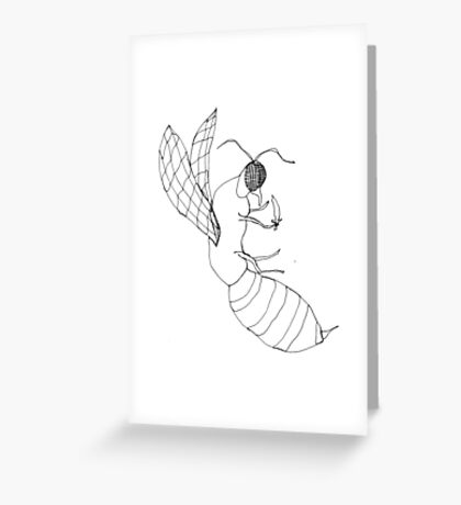 killer bee Greeting Card