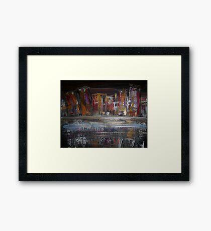 City Downtown Framed Print