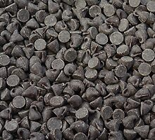 Chocolate chips background by nscphotography