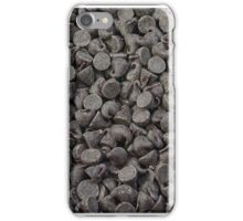 Chocolate chips background iPhone Case/Skin